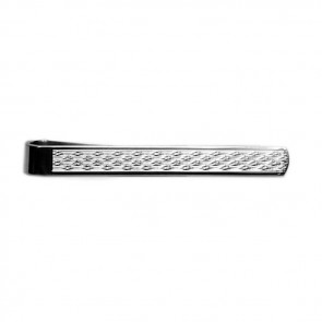 Sterling Silver Wave Tie Bar