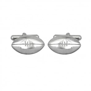 Sterling Silver Rugby Ball Shaped Cufflinks