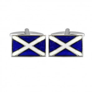 Scottish Flag Rectangular Cufflinks