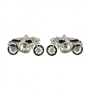 Motor Bike Rhodium Plated