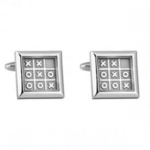 Noughts And Crosses Novelty Cufflinks