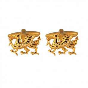Gold Plated Dragon Cufflinks