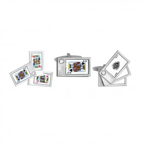Swivelling Playing Card Cufflinks