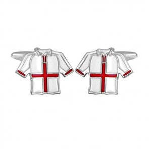 England Football T Shirt Cufflinks