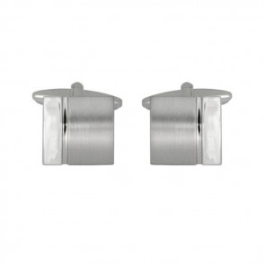 Brushed And Smooth Effect Style Cufflinks