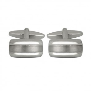 Simple Brushed And Smooth Effect Cufflinks