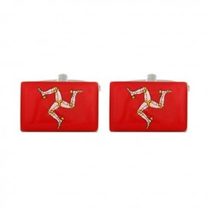 Isle Of Man Red Flag Cufflinks