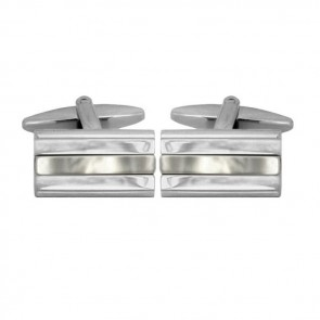 Silver Line Synthetic Mop Cufflinks