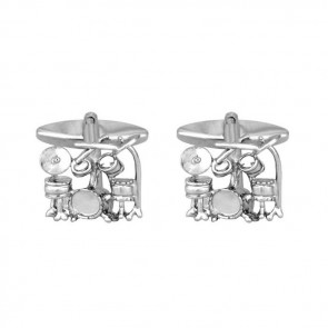 Drum Kit Shaped Cufflinks