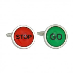 Stop And Go Sign Cufflinks