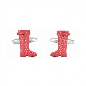 Pink Wellies Cufflinks