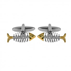 Fish Bone Cufflinks