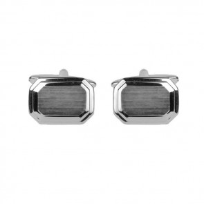 Brushed And Stepped Cufflinks