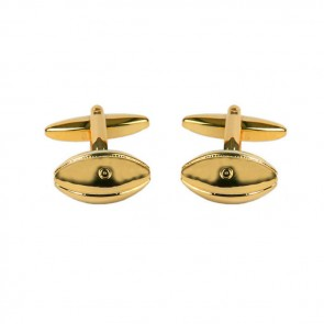 Rugby Ball Gold Look Cufflinks