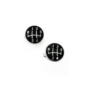 Black Gear Knob Cufflinks