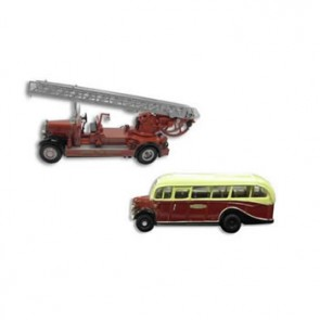 Fire Engine And Bedford Bus Cufflinks