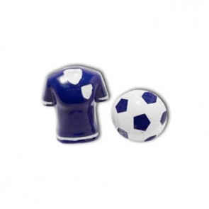 Football Shirt And Ball Blue Cufflinks