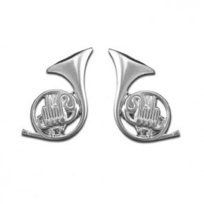 French Horn Shaped Cufflinks