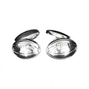 Sterling Silver Simple Rugby Ball Cufflinks