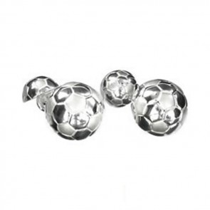 Sterling Silver Football Shaped Cufflinks