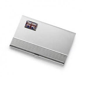 Union Jack Flag Business Card Holder