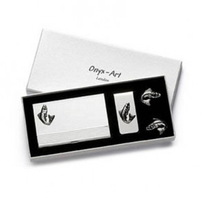 Fish Shaped Cufflinks Box Set