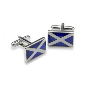 Scottish Flag Shaped Cufflinks