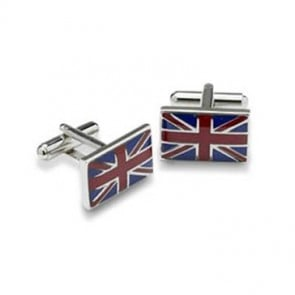 Union Jack Flag Shaped Cufflinks