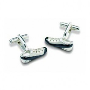 Black And Silver Football Boot Cufflinks