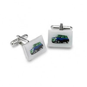 Blue Mini Cufflinks