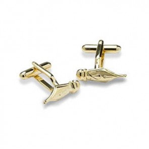Gold Fountain Pen Cufflinks