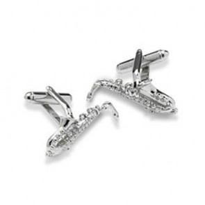 Saxophone  Shaped Cufflinks