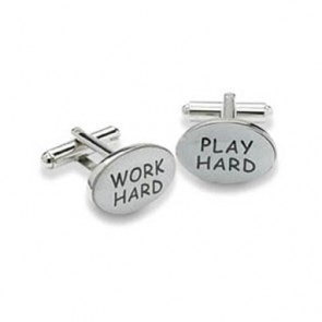 Work Hard And Play Hard Cufflinks