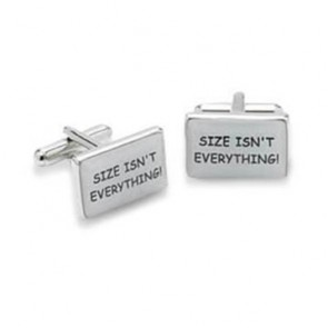 Size Isn't Everything Cufflinks