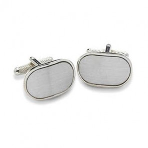 Plain Silver Within Silver Cufflinks