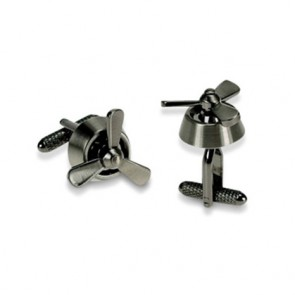 Silver Rotating Propeller Cufflinks
