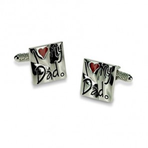 I Love My Dad Slogan Cufflinks