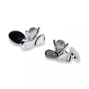 Silver Plate Golf Chain Link Cufflinks
