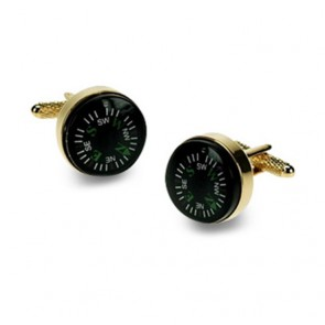 Gilt Compass Cufflinks