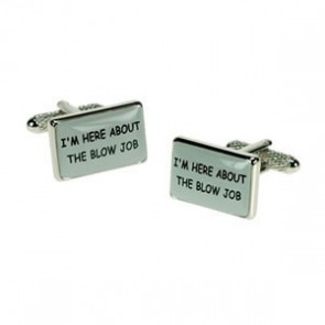 I'm Here About The Blow Job Logo Cufflinks