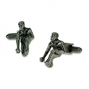 Silver Men Playing Bowls Cufflinks