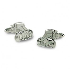 Silver Roadster Car Cufflinks
