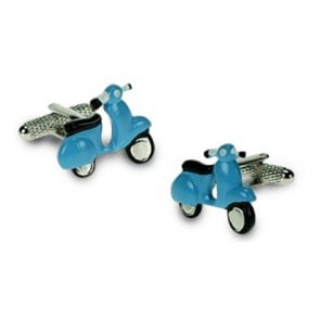 Blue Vespa Scooter Cufflinks