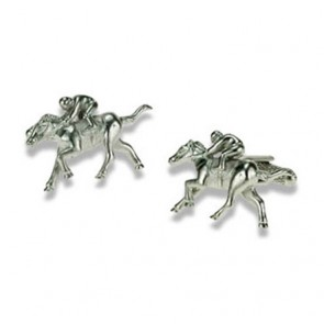 Silver Horse And Rider Cufflinks