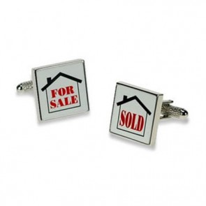 For Sale And Sold Logo Cufflinks