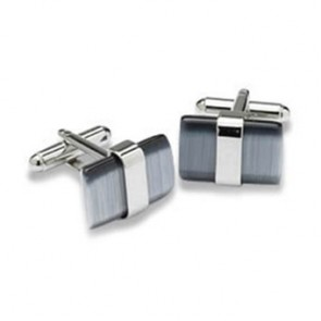 Grey Wraparound Catseye Cufflinks