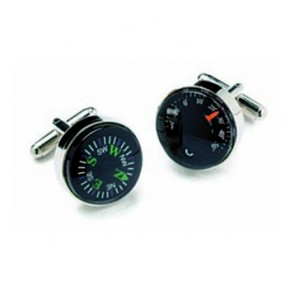 Thermometer And Compass Cufflinks
