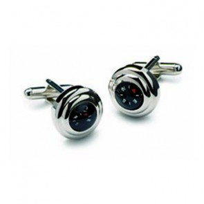 Polished Silver Compass Cufflinks