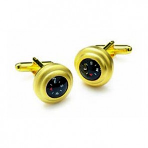 Satin Gold Compass Cufflinks