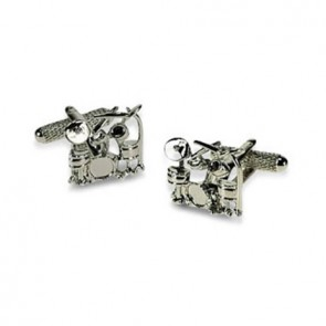 Detailed Drum Kit Cufflinks
